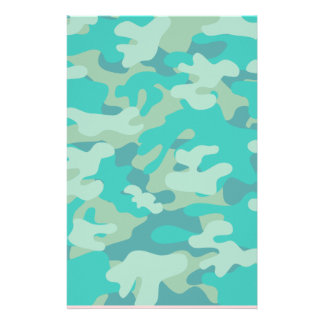 Shades of Turquoise Camo Stationery