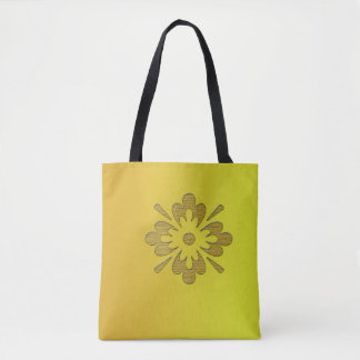 Shades of Yellow Pretty Flower Tote Bag