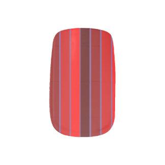 Shades Red Pin Striped Minx Nail Art