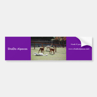 ShaDo Alpacas, Honk if you Pronk! Bumper Sticker