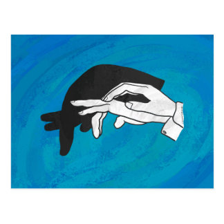 Shadow Anteater On Blue Postcard