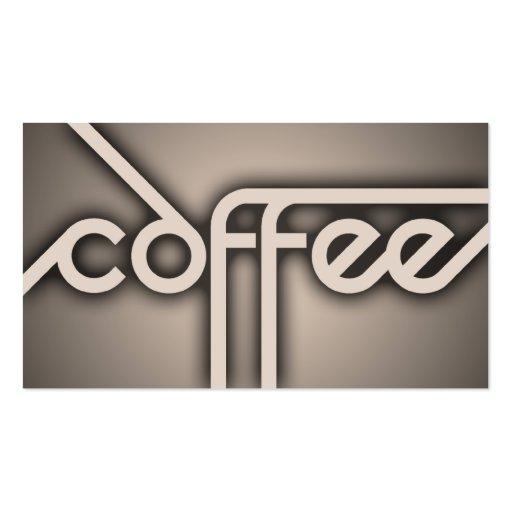 shadow COFFEE (color customizable) Business Card