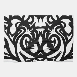 Shadow-cut art deco designer pattern by SPECT Hand Towels