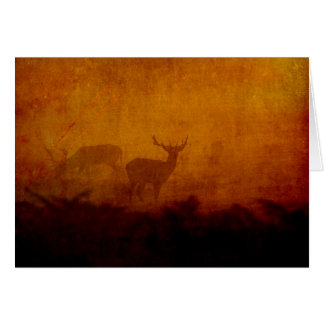 Shadow Deer Greeting Card