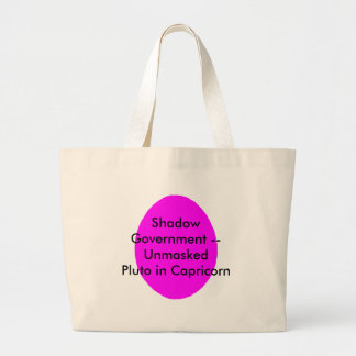 Shadow Government -- Unmasked Pluto in Capricorn Canvas Bags