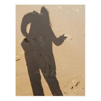 Shadow in dune postcard