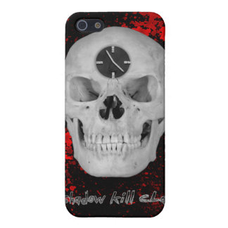 Shadow Kill Clan Skull Clock Iphone 4 case