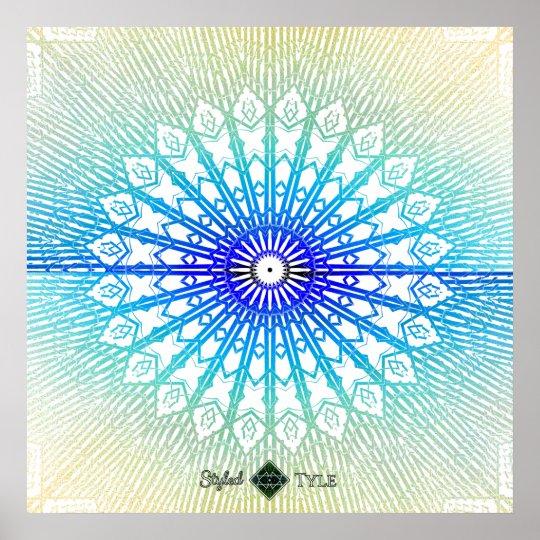Shadow Looking Glass Mandala ( Rainbow ) Poster