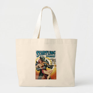 Shadow Men from Space Large Tote Bag