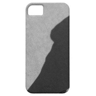 Shadow of a photographer on the sand beach iPhone 5 case