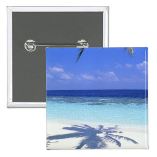 Shadow of Palm Tree 15 Cm Square Badge