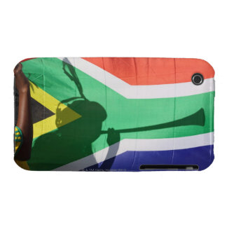 Shadow of soccer supporter blowing vuvuzela, Case-Mate iPhone 3 cases