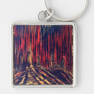 Shadow of Souls Silver-Colored Square Key Ring