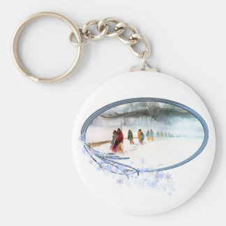 Shadow of the Owl on the Trail of Tears Key Ring