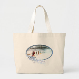 Shadow of the Owl on the Trail of Tears Large Tote Bag