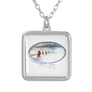 Shadow of the Owl on the Trail of Tears Silver Plated Necklace