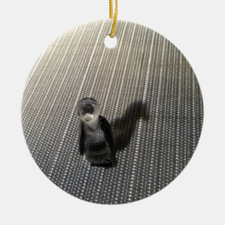 Shadow Penguin Ceramic Ornament