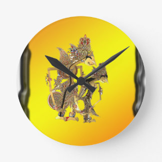 Shadow Puppets Indonesian Round Clock