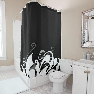Shadow Swirl Shower Curtain