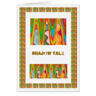 Shadow Talk - Brain Teaser Art Greeting Card