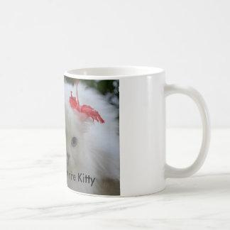 Shadow the white kitty basic white mug