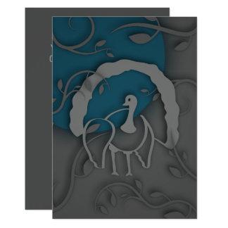 Shadow Turkey Noir by the Moon Card