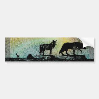 Shadow Wolves Bumper Sticker
