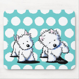 Shadowboxing Westies Mouse Pad