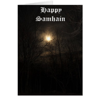 Shadow's in my Backyard - Samhain Card
