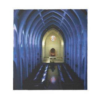 shadows of the dark blue church notepad