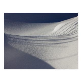 Shadows on untouched snow CC0098 Postcard