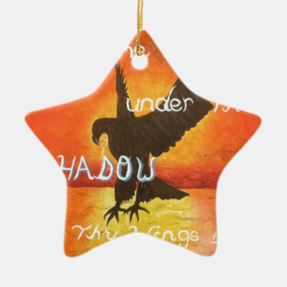 shadowwings ceramic ornament