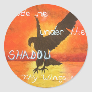 shadowwings classic round sticker