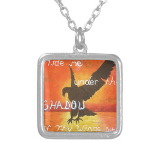 shadowwings silver plated necklace