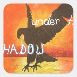 shadowwings square sticker