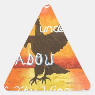 shadowwings triangle sticker