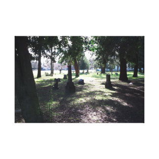 Shadowy Cemetery 12x16 Canvas Print