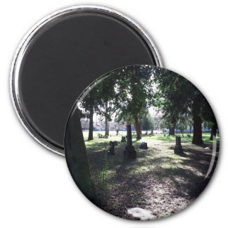 Shadowy Cemetery 6 Cm Round Magnet