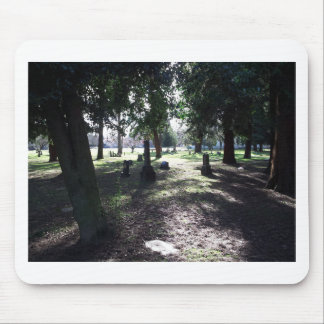 Shadowy Cemetery Mouse Pad