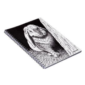 shadowy rabbit animal drawing note books