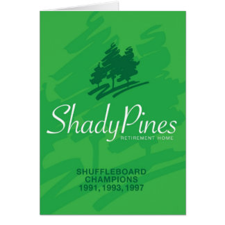 Shady Pines Retirement Home Cards (Green)