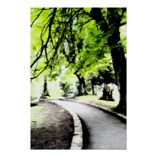 Shady Walk In The Trees Canvas Or Print