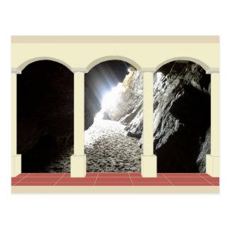 Shaft of Light through Archway Postcard