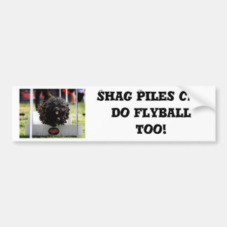 Shag Piles can do Flyball too Bumper Sticker