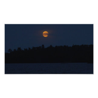 Shagawa Lake Moonrise Photo Print