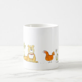 Shaggy Dog and Red Hen Mug