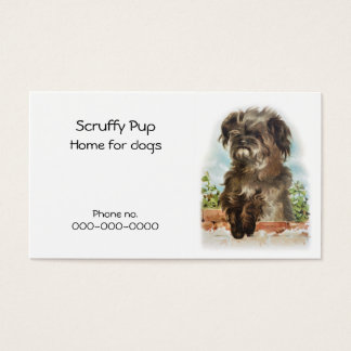 Shaggy dog business card