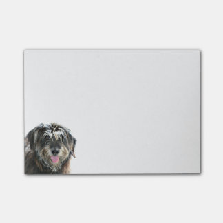 Shaggy dog face post-it notes