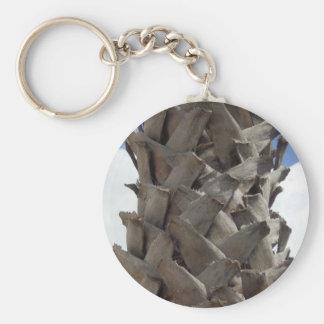 Shaggy Palm Tree Key Ring Basic Round Button Key Ring