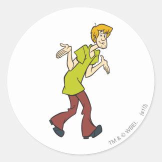 Shaggy Pose 08 Classic Round Sticker